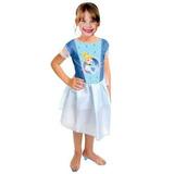 Vestido Fantasia Infantil Cinderela Princesa Clássica P/g