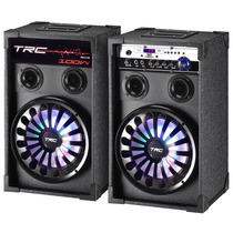 Caixa Som Amplificada Dupla Trc Trc338 Usb/sd R?dio Fm 100w