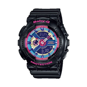 97c46833acb Relógio Feminino Casio Baby-g Anadigi Ba-112-1adr - Preto
