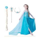 Fantasia Infantil Vestido Frozen Elsa Acessórios Em Até 12x