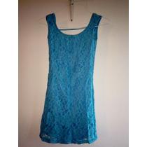 Precioso Vestido Azul Ideal Para Cualquier Celebración