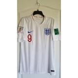 Camiseta Selección Inglaterra Kane #9 + Parches Mundial 2018