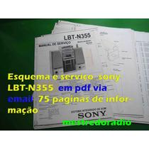 Esquema E Serviço Sony Lbt-n355 Lbtn355 Lbtn-355 Em Pdf