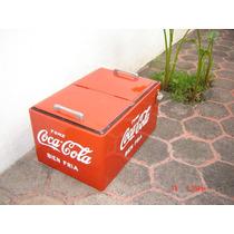 Hielera Antigua Coca Cola De Coleccion Muy Rara 50