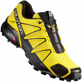 Salomon Speedcross Blk Yellow 390616