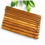 Agulhas Para Crochê Bambu 12 Peças De 3mm A 10mm Novas