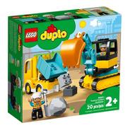 10931 Camión Y Excavadora Con Orugas