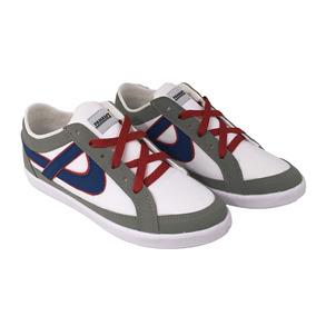 Panam Tenis Blanco Gris Azul Skater Bmx Hip Hop 010136-0823
