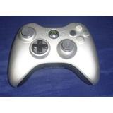 Control Original Color Plata Para Xbox 360