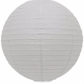Luminária Oriental Japonesa/chinesa Papel Branca 20cm
