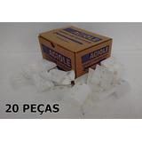 Calço Plástico Ondulado Pequeno Branco - Embal 20 Pçs