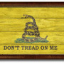 Gadsden Dont Tread On Me Military Textured Flag Print, 19 X