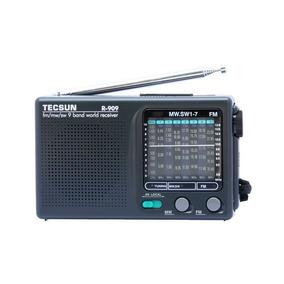 Rádio Tecsun R-909 Am Fm Sw1-7 Ondas Curtas Faixas Mundiais