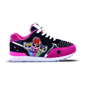 Zapatillas Chicas Superpoderosas Urbanas Footy Con Luces