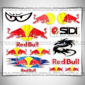 Kit Adesivos Patrocinios M07 Red Bull Logo Junto Médio
