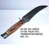 Cuchillo De Caza Tramontina Brasil Antiguo,22 Cm. Largo Okey