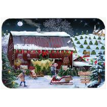 Granja Del Árbol De Navidad De Cristal Tabla De Cortar Gran