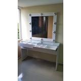 Mueble De Maquillaje Peinadora Moderna Con Vidrio