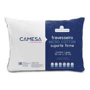 Travesseiro Micro Cotton Camesa  Suporte Firme - Toque Macio