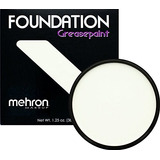 Mehron Makeup Foundation Greasepaint, White 1.25oz