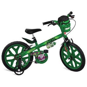 bicicleta aro 16 infantil hulk vingadores menino bandeirante