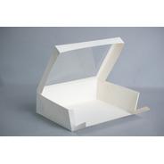 Caja Xg 34,5x26x10cm C/visor (x 50u.) Desayunos Sandwiches Pvc Acetato - 054 Bauletto