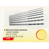 Mechas Madera 300mm Set X 7 Pcs. Power J330