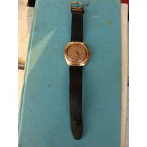 Reloj Timex En Chapa De Oro Hermoso Automatico, Mide 3.6 Cm
