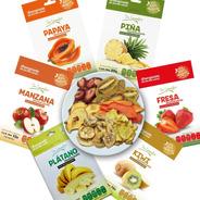 Snacks De Fruta Deshidratada: Piña, Fresa, Plátano, Manzana