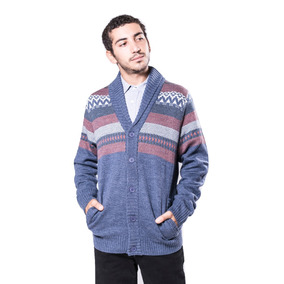 Super Outlet Cardigan Rusty Chalk Azul Para Hombre
