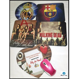 Mouse Pad Personalizado - Equipos Fútbol, Series Favoritas