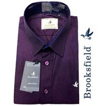 Camisa Social Brooksfield (pontinhos) Roxa/lilas