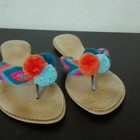 Hermosa Sandalias Wayuu ,producto 100% Artesanal