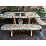 Mesa Jardin Ceramica Cemento