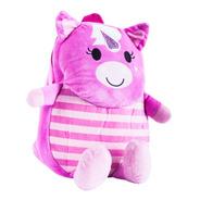 Unicornio, Mochila Infantil De Peluche Happydays