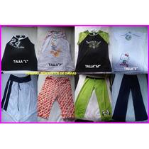 Ropa Damas Niñas Franelas Pantalones Bragas Pijamas Jade