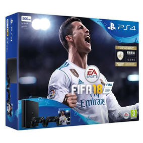 Ps4 Slim 500gb + 2 Joysticks + Fifa18 + Juego Extra !!!!