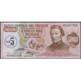 Uruguay 5 Nuevos Pesos Nd1975 P57 Serie A