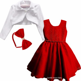 Vestido Infantil Turma Da Mônica 2 A 16 E Tiara E Bolero
