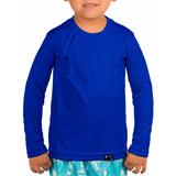 Camisa Infantil Com Proteção Solar Uv Fps50+ Manga Longa