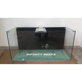 Aquario 100x40x50cm 6mm 200l Fundo Preto - Infinity Reefs