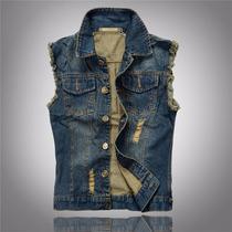 Colete Jeans Masculino Motocuble, Rock Luxo