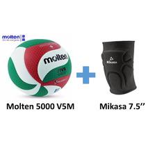 Balon Molten V5m 5000 + Rodillera Voleibol Mikasa 7.5