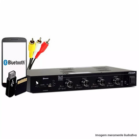 Amplificador Frahm Slim 4500 Sd Card Bluetooth Usb