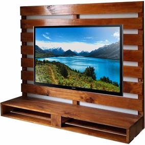Painel Tv- Madeira Rustica- Ótimo Acabamento Pallet Paletes