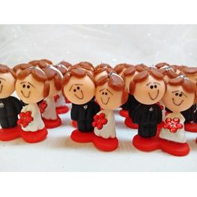 Noivinhos De Biscuit (base Vermelha) Caixa Com 100 Unidades