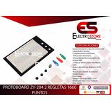 Protoboard Zy-204 1660 Puntos 2 Regletas 4 Distribucion