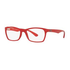 0ebd79dda2294 Armação Oculos Grau Ray Ban Rb7033l 5476 52mm Vermelho Brilh