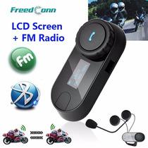 Intercomunicador Bluetooth Moto Capacete 1 Central + Fm