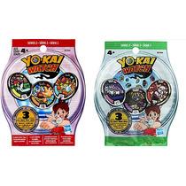 Combo Yo Kai Watch 2 Pacotes Com 3 Medalhas Cada Serie 3 E 2